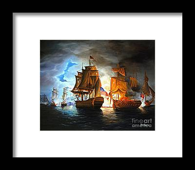 Naval Framed Prints