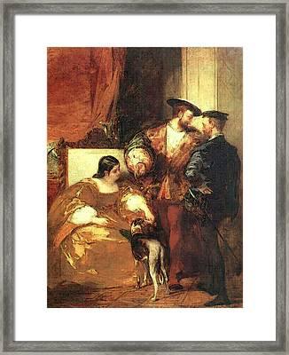 Bonington Richard Parkes Francis I And The Duchess Of Etampes Framed Print