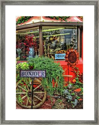 Framed Print featuring the photograph Bonjour Hello Good Day by Thom Zehrfeld