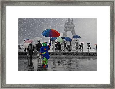 Bonjour Paris Framed Print by Joachim G Pinkawa