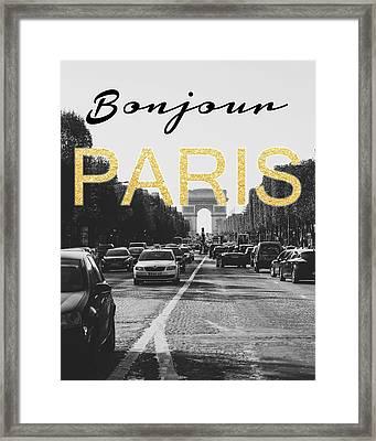 Bonjour Paris Framed Print