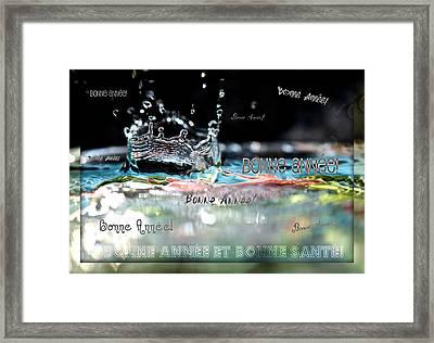 Bonne Annee Card Framed Print by Lisa Knechtel