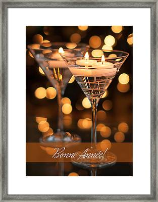 Bonne Annee Happy New Year In French Framed Print
