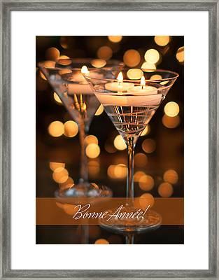Bonne Annee Happy New Year In French Framed Print by Maggie Terlecki