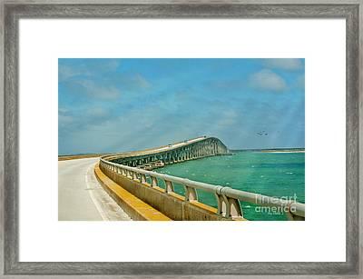 Bonner Bridge - Highway 12 Nc Framed Print by Anne Kitzman