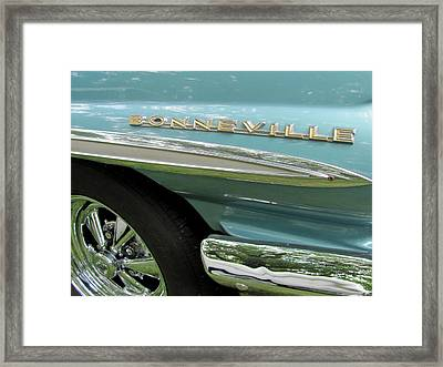 Bonneville Framed Print by Anita Burgermeister