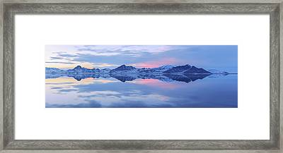 Bonneville Lake Framed Print by Chad Dutson