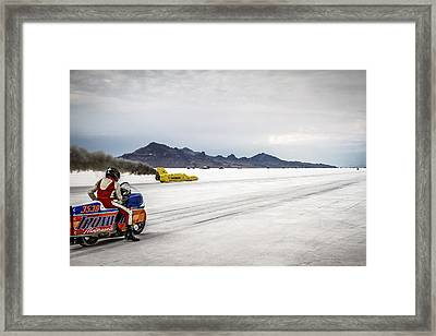 Bonneville Speed Week 2012 Framed Print by Holly Martin