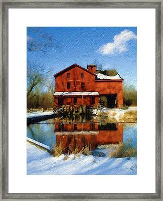 Framed Print featuring the photograph Bonneyville In Winter by Sandy MacGowan