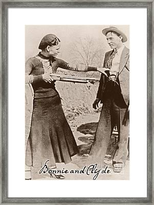Bonnie And Clyde II Framed Print