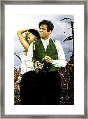 Bonnie And Clyde Framed Print by Thomas Pollart