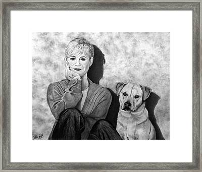 Bonnie Hunt And Charlie Framed Print by Peter Piatt