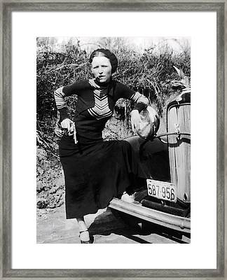 Bonnie Parker  1910 - 1934 Framed Print by Daniel Hagerman