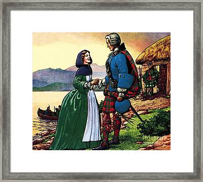 Bonnie Prince Charles And Flora Macdonald Framed Print by Pat Nicolle