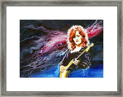 Bonnie Raitt Framed Print by Ken Meyer jr