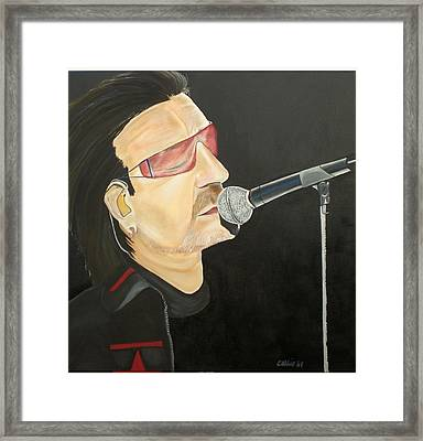 Bono Framed Print by Colin O neill