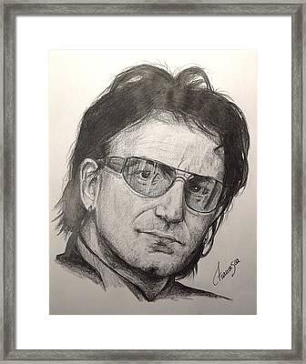 Bono Framed Print by Francesca Agostini