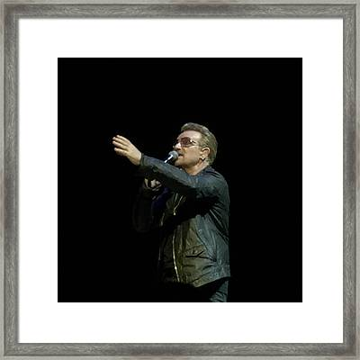 Bono - In Concert At London Framed Print by Doc Braham