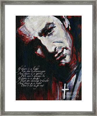 Bono - Man Behind The Songs Of Innocence Framed Print by Tanya Filichkin