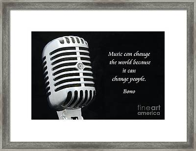 Bono On Music Framed Print