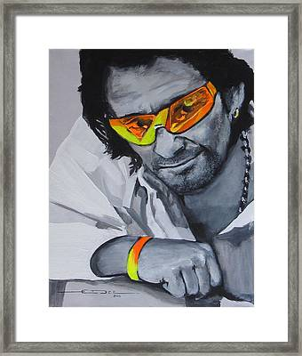 Bono  U2 2 U Framed Print