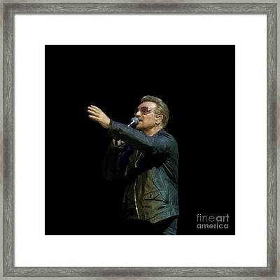 Bono - U2 Framed Print