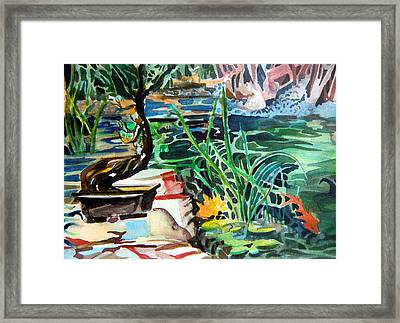 Bonsai Meditations Framed Print by Mindy Newman