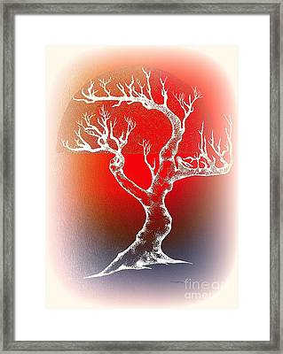 Bonsai Red Framed Print