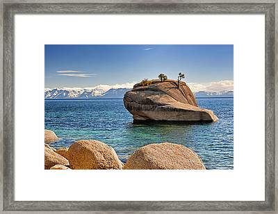 Bonsai Rock At Lake Tahoe Framed Print