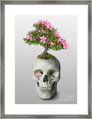 Bonsai Skull Framed Print