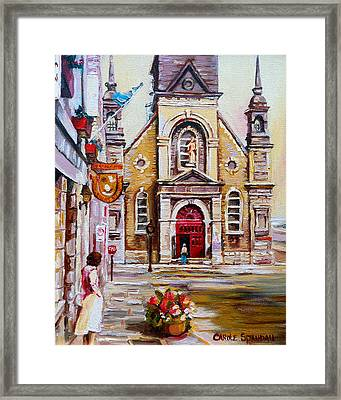 Bonsecours Church Framed Print by Carole Spandau