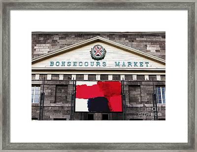 Bonsecours Market Framed Print by John Rizzuto