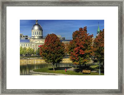 Bonsecours Market Framed Print by Nicola Nobile