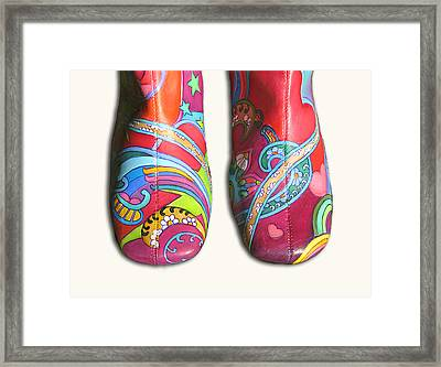 Boogie Shoes Framed Print by Mary Johnson