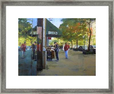 Book Browsing On Broadway Framed Print