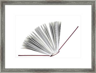 Book Framed Print by Frank Tschakert