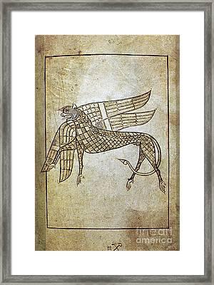 Book Of Durrow, C680 A.d Framed Print