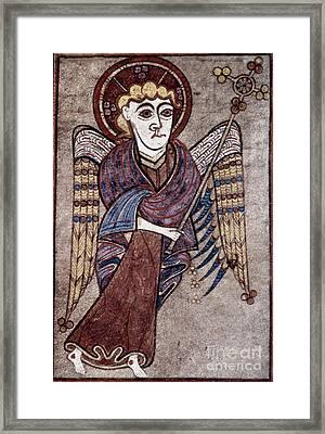 Book Of Kells: St. Matthew Framed Print by Granger