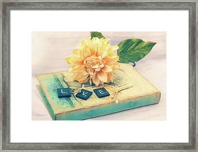 Book Of Love Framed Print by Pamela Williams