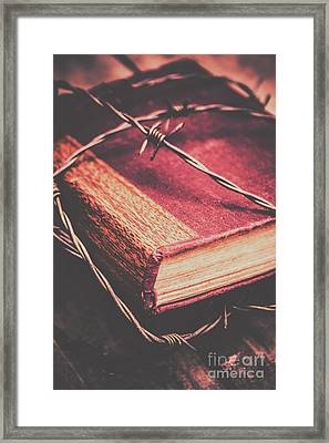 Book Of Secrets, High Security Framed Print