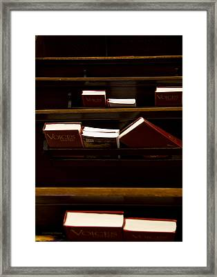 Book Of Worship II Framed Print by Carol Hathaway