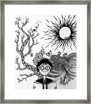 Book Framed Print by Shima Aeen