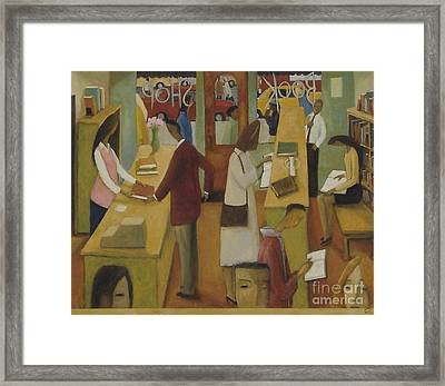 Book Shop Framed Print by Glenn Quist