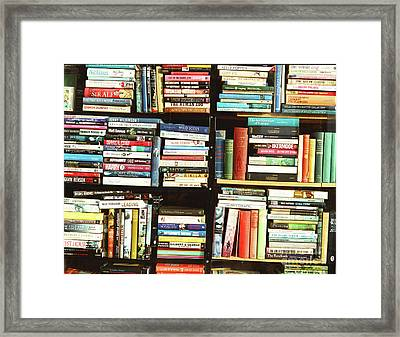 Framed Print featuring the photograph Book Shop by Rebecca Harman