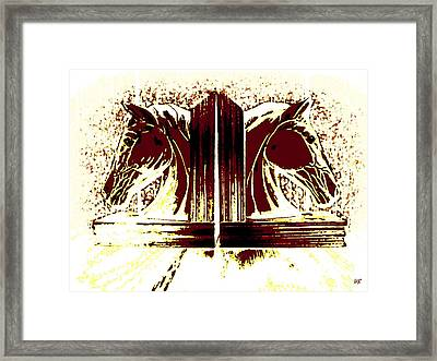 Bookend Buddies Framed Print by Will Borden