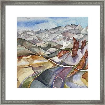 Bookends - Alta/snowbird Utah Framed Print