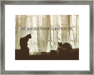 Bookends Quote Framed Print by JAMART Photography