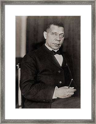 Booker T. Washington 1856-1915, Became Framed Print by Everett