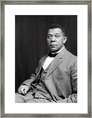 Booker T. Washington  1899 Framed Print by Daniel Hagerman