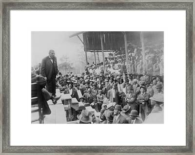 Booker T. Washington Addressing Framed Print